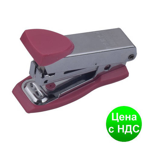Степлер металлический Міні до 12листов, (Скобы №10), розовый BM.4151-10, фото 2