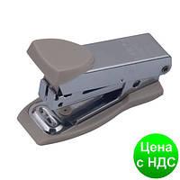 Степлер металлический Міні до 12листов, (Скобы №10), серый BM.4151-09