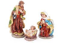 Вертеп Святе сімейство (набір з 3 фігур), 16 см