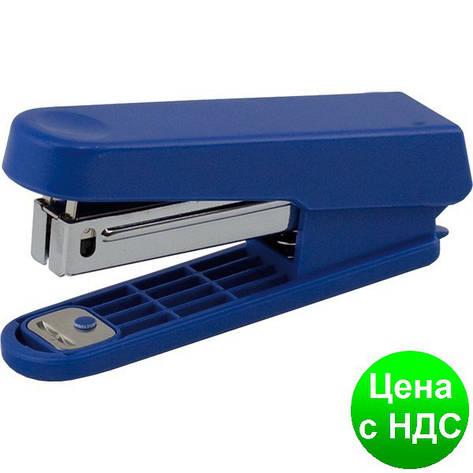 Степлер пластиковый до 10листов (Скобы №10), JOBMAX, синий BM.4101-02, фото 2