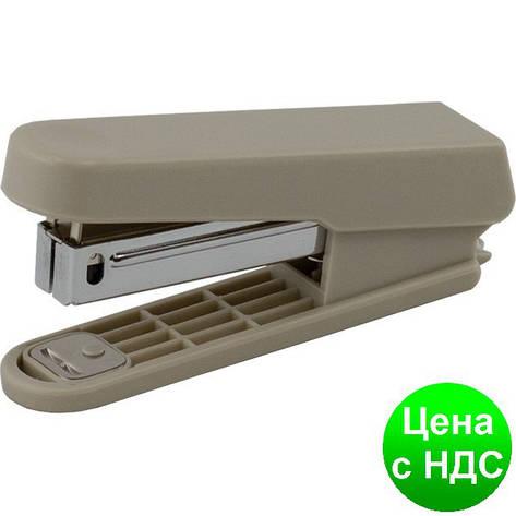 Степлер пластиковый до 10листов (Скобы №10), JOBMAX, серый BM.4101-09, фото 2