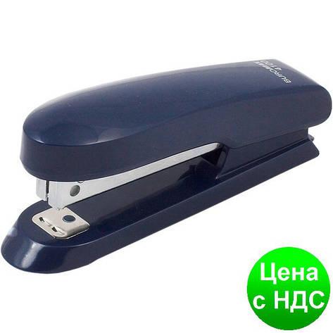 Степлер пластиковый до 15листов (Скобы №10), синий BM.4100-02, фото 2