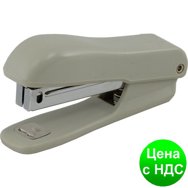 Степлер пластиковый круглый до 10листов (Скобы №10), JOBMAX, серый BM.4102-09