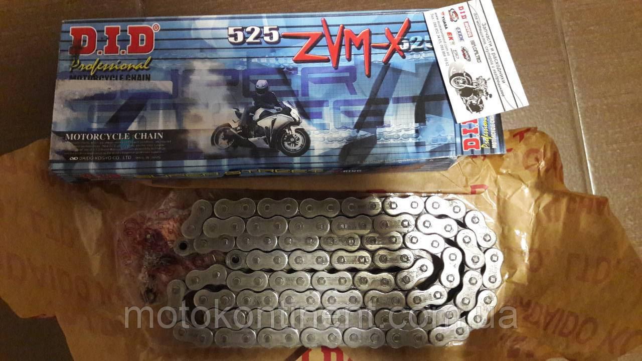 Мото ланцюг 525 DID 525ZVM-X 118 сталева для мотоцикла ( в к-ті замок ZJ) сальник X 2 -Ring