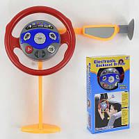 Руль игрушечный в машину 55008 (18) на батарейке, муз, свет, на присоске, в коробке