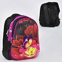 Рюкзак школьный Butterfly on flowers, 2 кармана