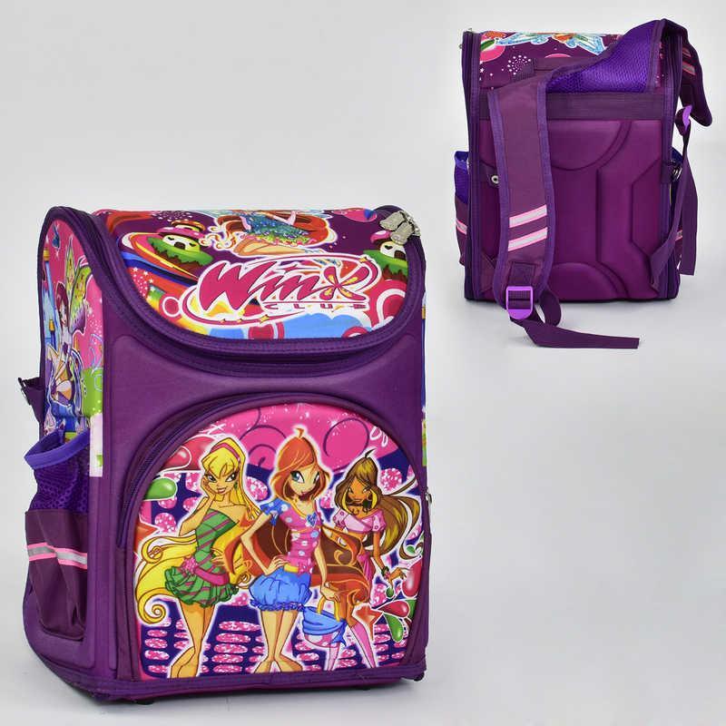 Рюкзак школьный ФЕИ WINX 2 кармана, спинка ортопедическая