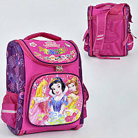 Рюкзак школьный Принцессы Дисней 3D спинка ортопедическая, 3 кармана