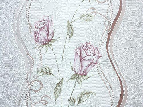 Обои акрил на бумаге, бутон 7000-02, роза, 0,53*10м