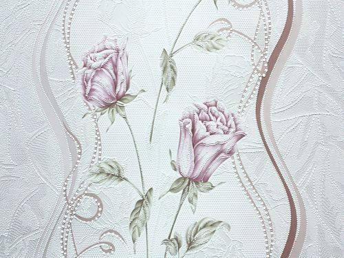 Обои акрил на бумаге, бутон 7000-02, роза, 0,53*10м, фото 2