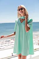 Женское яркое летнее платье  свободного кроя, фото 1
