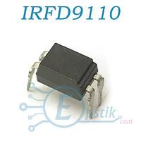 IRFD9110, Mosfet транзистор P канал, 30В 9А, HD1