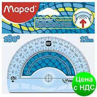 Транспортир UNBREAKABLE 180гр/120мм пластик, дисплей MP.244180