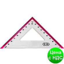 Треугольник 100мм, с розовой полоской, блистер ZB.5620-10