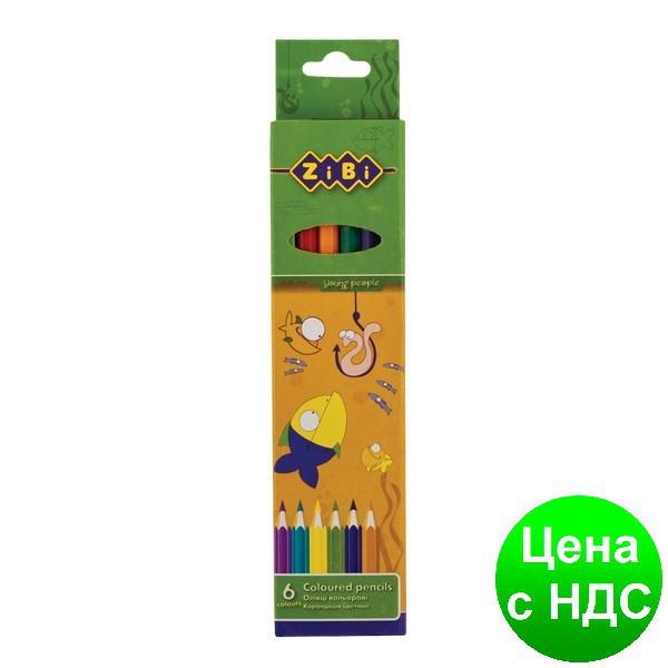 Цветные карандаши, 6 цветов,STANDARD ZB.2400