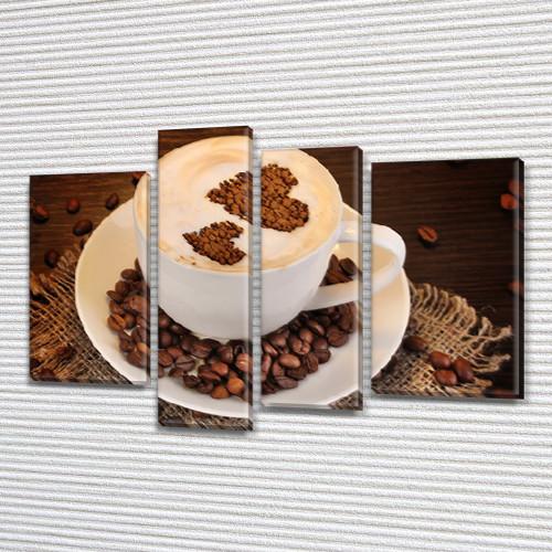 Картины для кухни купить, на Холсте син., 65x85 см, (40x20-2/65х18/50x18)