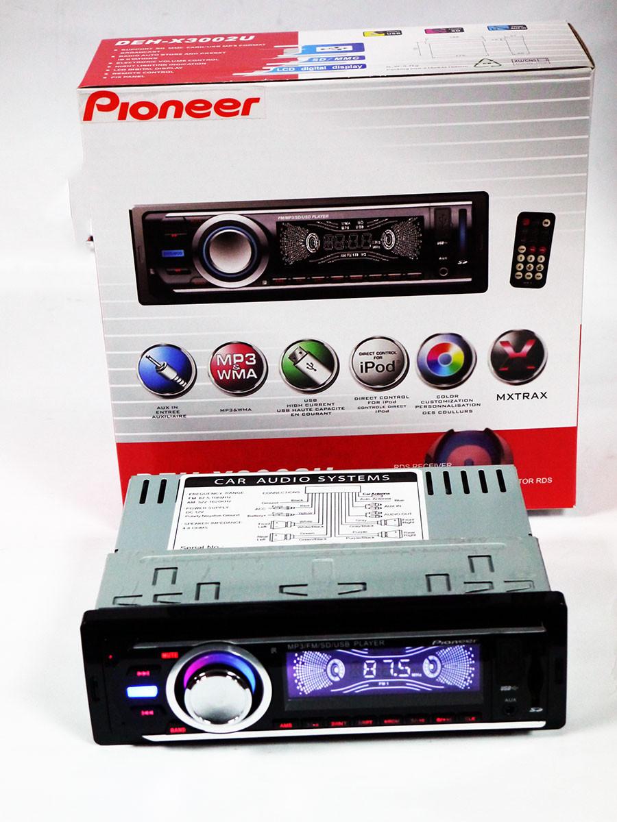 Автомагнитола Pioneer DEH-X3002U - USB+SD+FM+AUX, фото 1