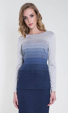Женская блуза Sinope Zaps темно-синего цвета, коллекция осень-зима 2018-2019
