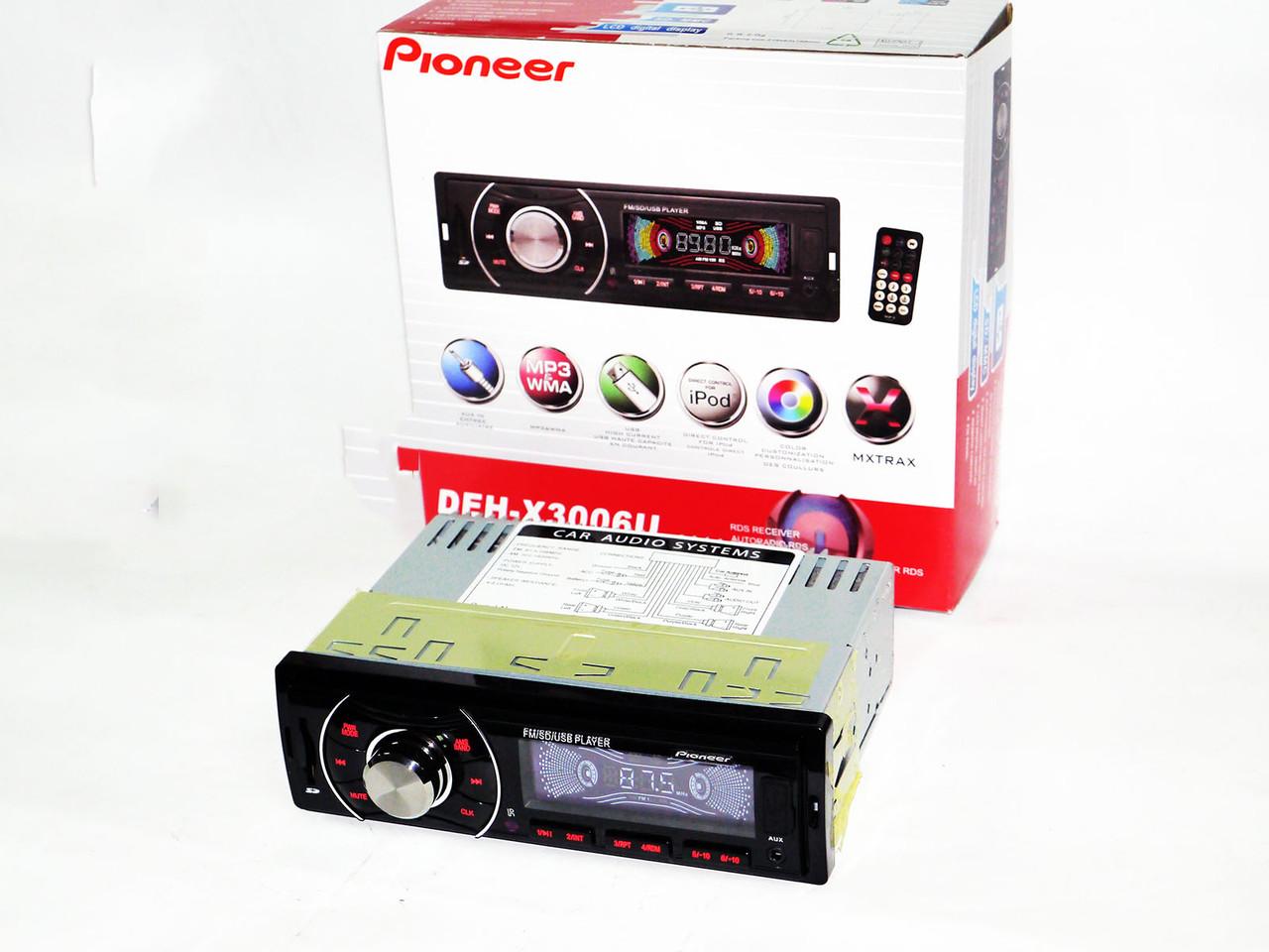 Автомагнитола Pioneer DEH-X3006U - USB+SD+FM+AUX