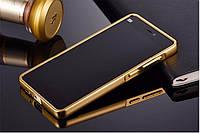 Зеркальный Чехол/Бампер для Xiaomi Redmi 4a Золотой (Металлический)
