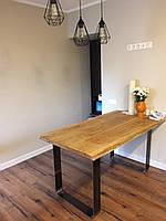 Стол с природными краями в life edge стиле массив дерева и металл