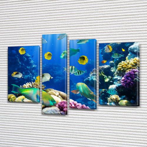 Картины купить модульные на Холсте син., 65x85 см, (40x20-2/65х18/50x18)