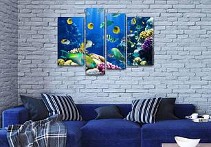 Картины купить модульные на Холсте син., 65x85 см, (40x20-2/65х18/50x18), фото 3