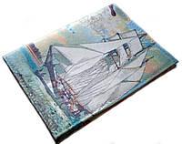 """Обложка на права кожаная """"Sail Away"""" ручной работы, фото 1"""