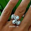 Серебряное кольцо Капли дождя, фото 9