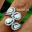 Серебряное кольцо Капли дождя, фото 8