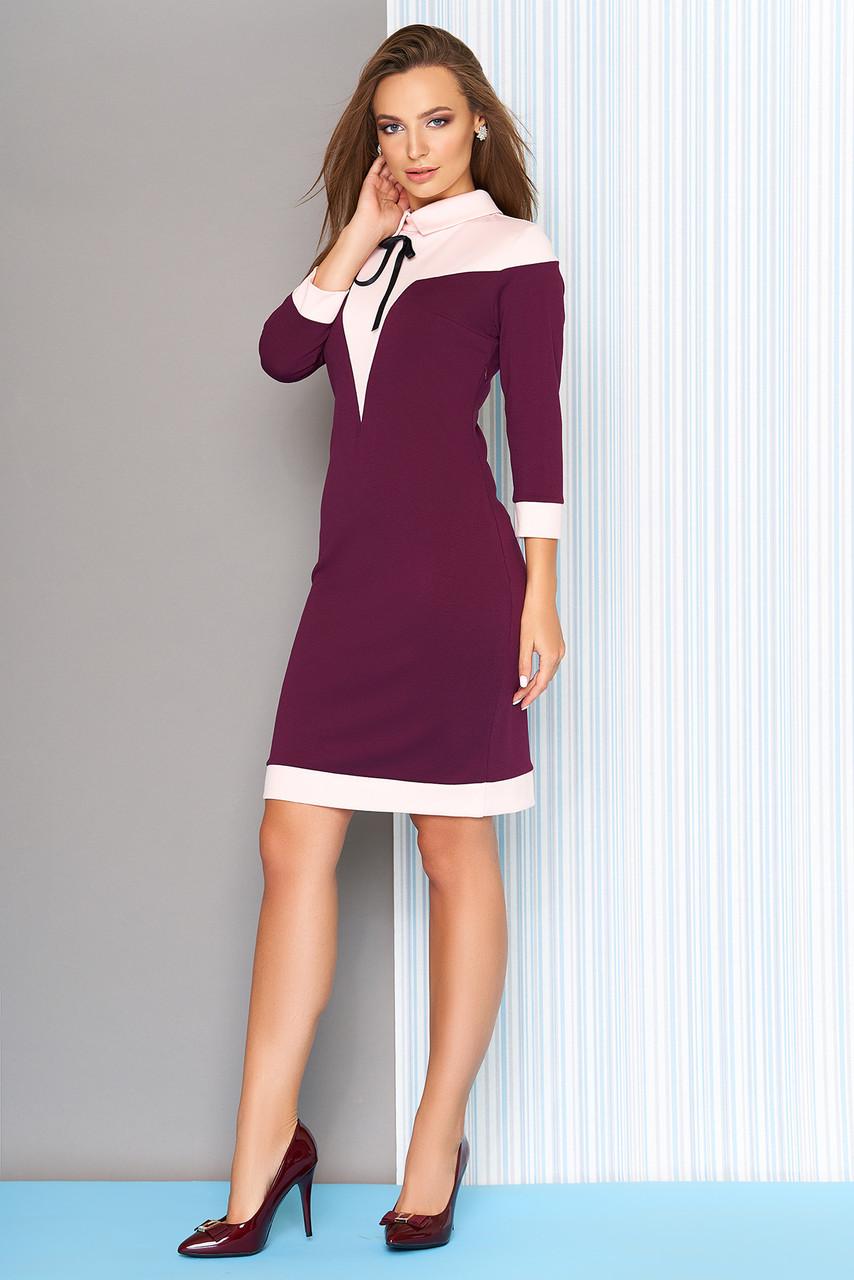 Оригинальное женское платье в деловом стиле