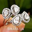Серебряное кольцо Капли дождя, фото 6