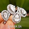 Серебряное кольцо Капли дождя, фото 5