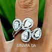 Серебряное кольцо Капли дождя, фото 4
