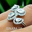 Серебряное кольцо Капли дождя, фото 2
