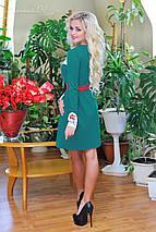 Трикотажное расклешенное женское платье (0682-0683 svt), фото 3