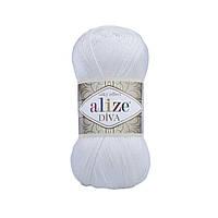 Пряжа Alize Diva 55 White