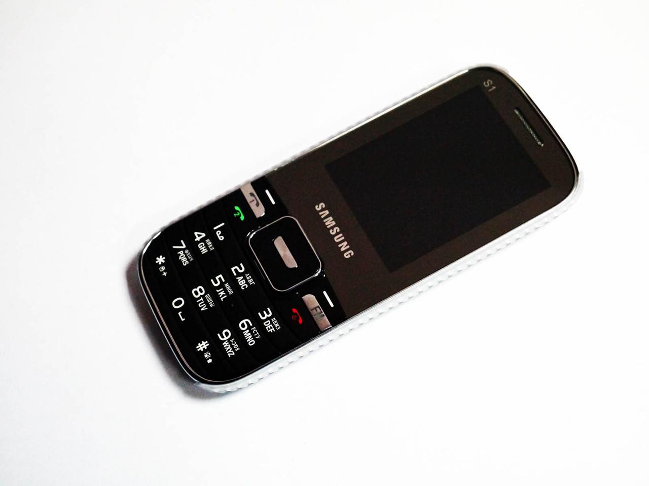 """Телефон Samsung S1 - 2SIM   - 2,2 """" - Fm - Bt - Cam- стильный дизайн"""
