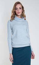Женская кофточка с хомутом мятного цвета. Модель Yana Zaps, коллекция осень-зима 2018-2019