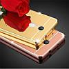 Зеркальный Чехол/Бампер для Xiaomi Note 4 Золотой (Металлический), фото 2