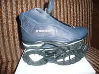 Зимние ботинки Jordan  на меху   темно синие