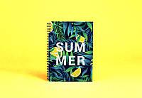 Sketchbook Lemon Jungles Скетчбук Лимонные Джунгли белые листы на пружине 80г, фото 1