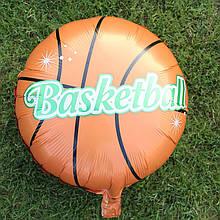 Баскетбольный мяч Фольгированный шар диаметр 45 см.