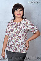 Блуза больших размеров PL3-731 (р.52-62), фото 1