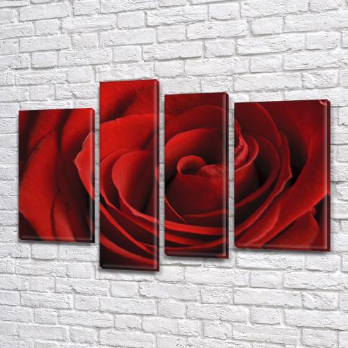 Картины триптих на холсте купить дешево, на Холсте син., 65x85 см, (40x20-2/65х18/50x18)
