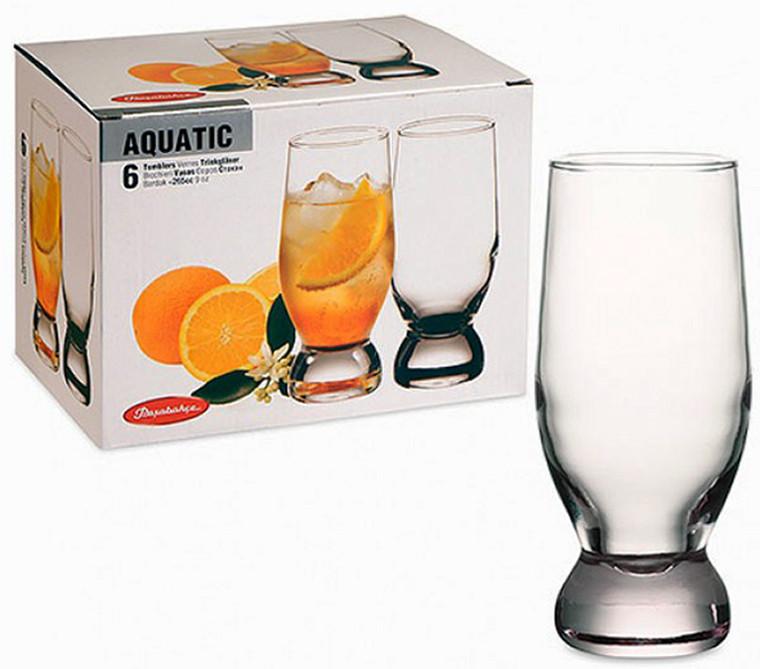 Набор стаканов Pasabahce Aquatic высокий 6шт 265мл 42978