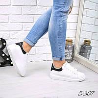 Кроссовки женские Q Collection белый + черный 5307, спортивная обувь, фото 1