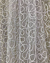 Тюль фатин белый 12707, фото 3