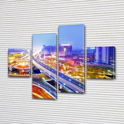 Картины на кухню фото, на Холсте син., 65x80 см, (25x18-2/55х18-2)