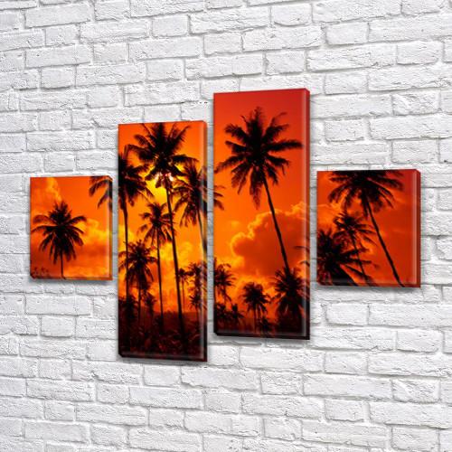 Картины на холсте модульные купить в интернет магазине картин, 65x80 см, (25x18-2/55х18-2)
